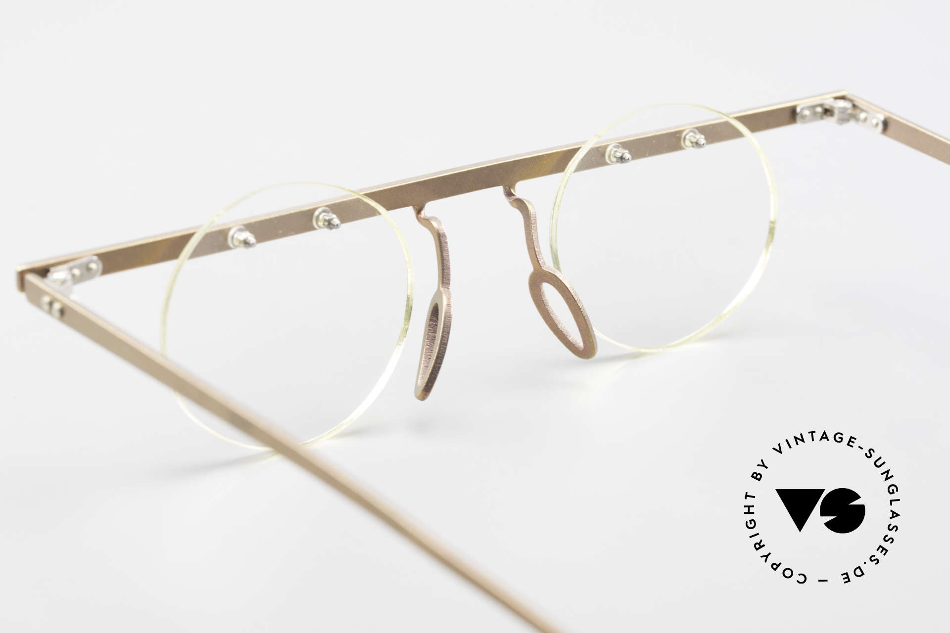 Theo Belgium Tita VII 9 Vintage Titanium Eyeglasses, DEMO LENSES can be replaced with optical / sun lenses, Made for Men and Women
