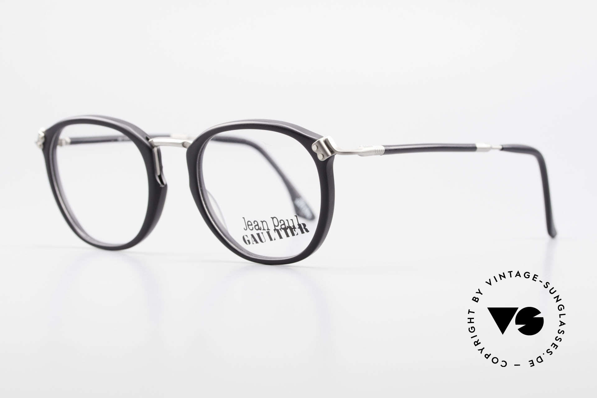 Jean Paul Gaultier 55-1272 Old Vintage Glasses No Retro, all frame parts are well riveted or screwed; top-notch, Made for Men and Women