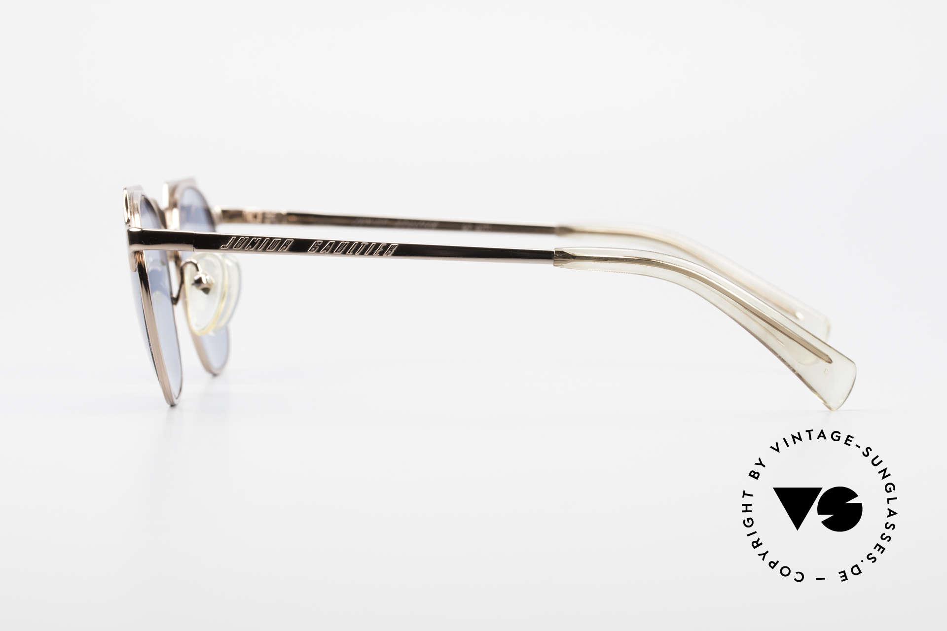 Jean Paul Gaultier 57-0171 Panto Designer Sunglasses, high-class & fancy frame finish in bronze-metallic, Made for Men and Women