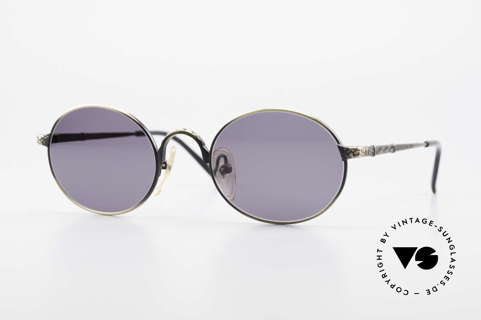 Jean Paul Gaultier 55-9672 Oval 1990's JPG Sunglasses, oval Jean Paul GAULTIER designer sunglasses, Made for Men and Women