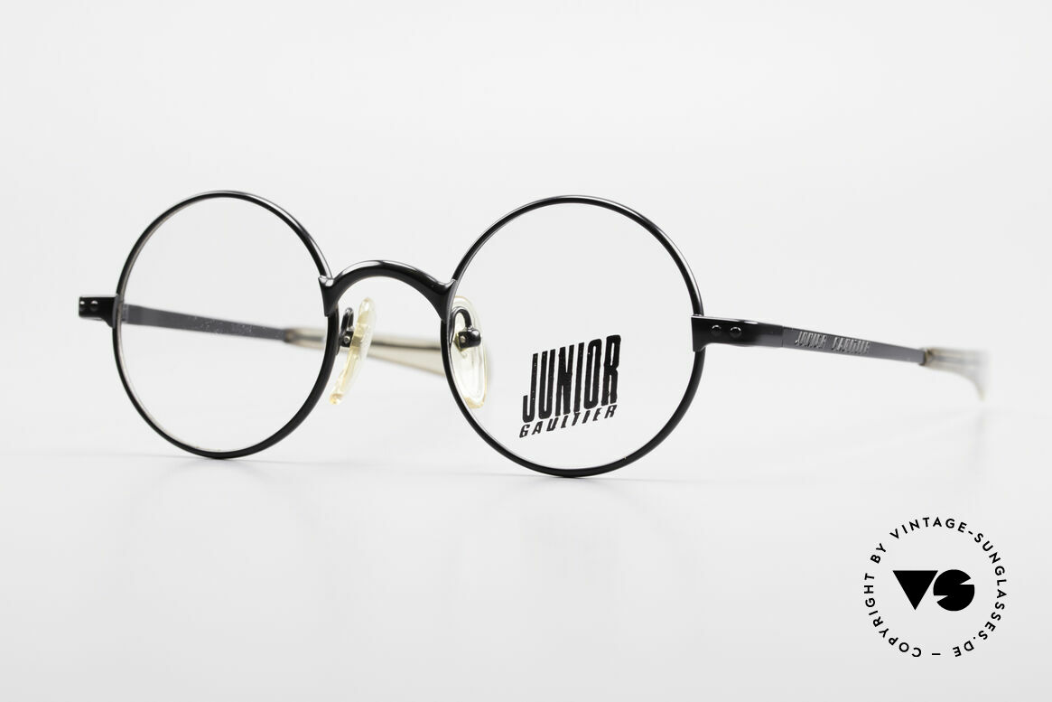 Jean Paul Gaultier 57-0173 Round Glasses Junior Gaultier, very rare vintage eyeglasses by Jean Paul Gaultier, Made for Men and Women