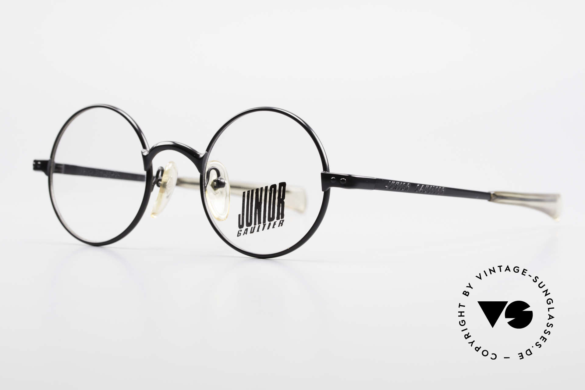 """Jean Paul Gaultier 57-0173 Round Glasses Junior Gaultier, round frame with """"Junior Gaultier"""" on the temples, Made for Men and Women"""