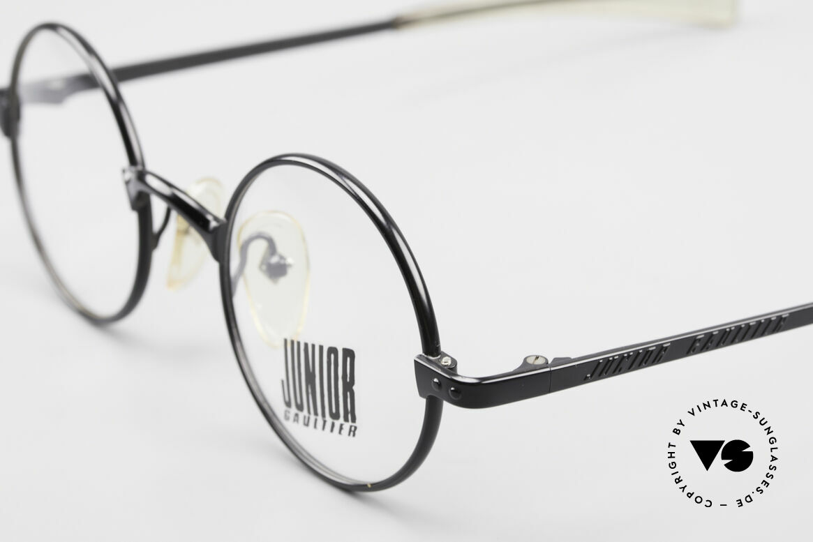 Jean Paul Gaultier 57-0173 Round Glasses Junior Gaultier, new old stock (like all our old JPG designer eyewear), Made for Men and Women