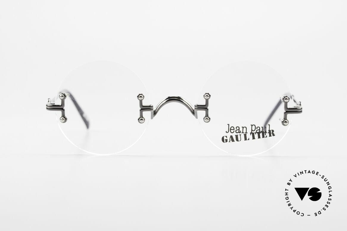 Jean Paul Gaultier 55-9172 Rimless JPG Designer Glasses, 90's vintage designer eyeglass-frame by J.P. Gaultier, Made for Men and Women