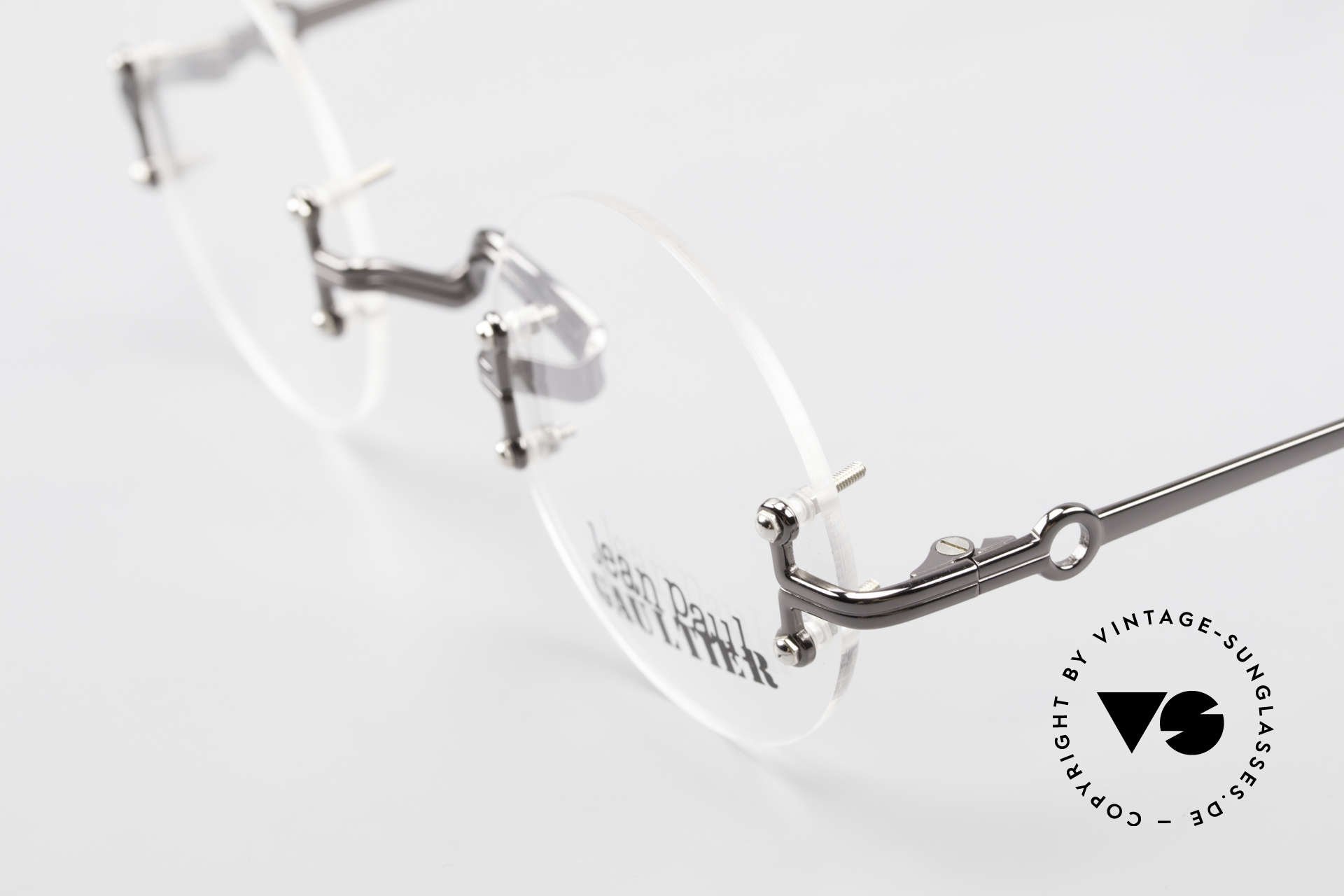 Jean Paul Gaultier 55-9172 Rimless JPG Designer Glasses, NO retro fashion, but a genuine old original from '95, Made for Men and Women