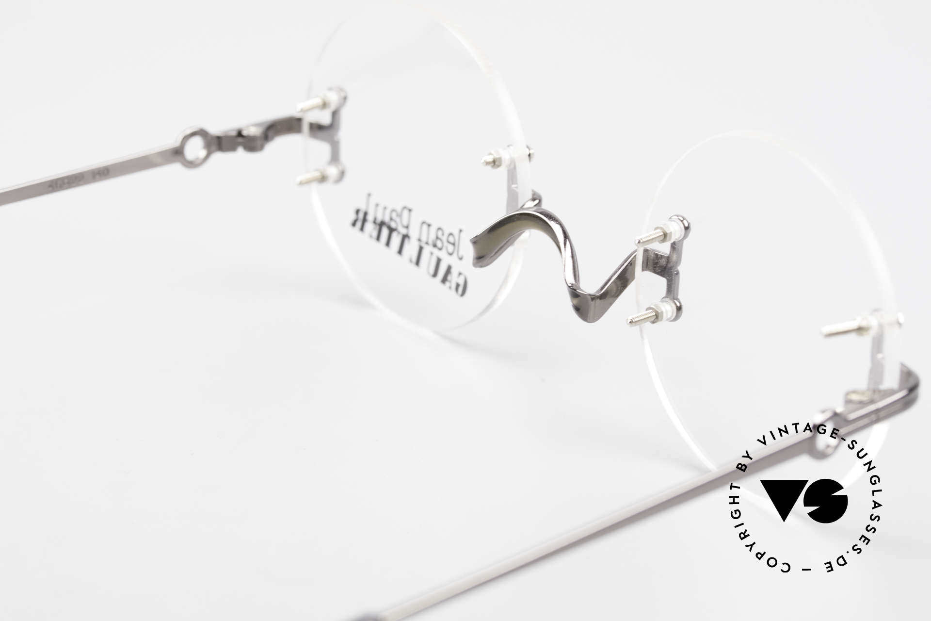 Jean Paul Gaultier 55-9172 Rimless JPG Designer Glasses, demo lenses can be replaced with optical (sun) lenses, Made for Men and Women