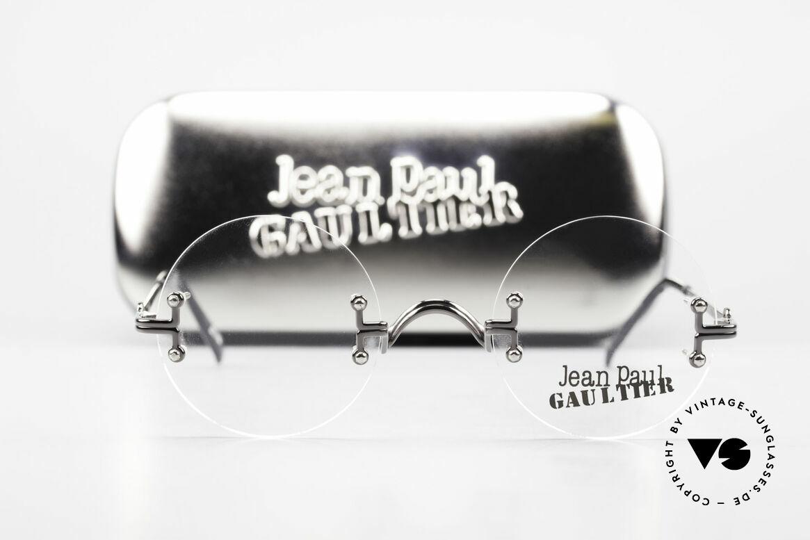 Jean Paul Gaultier 55-9172 Rimless JPG Designer Glasses, Size: small, Made for Men and Women
