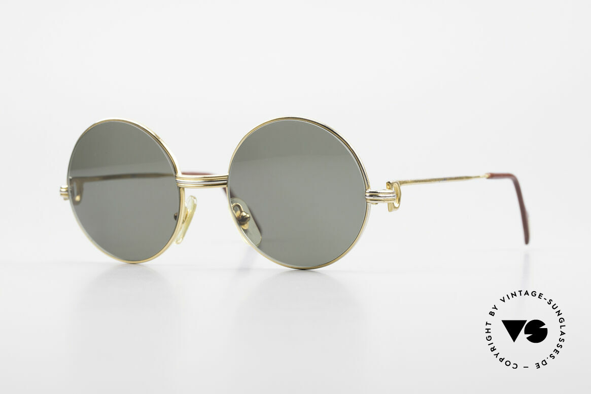 Cartier Round Customized Prototype One of a kind 2. Hand, unique round vintage Cartier sunglasses, Made for Men and Women