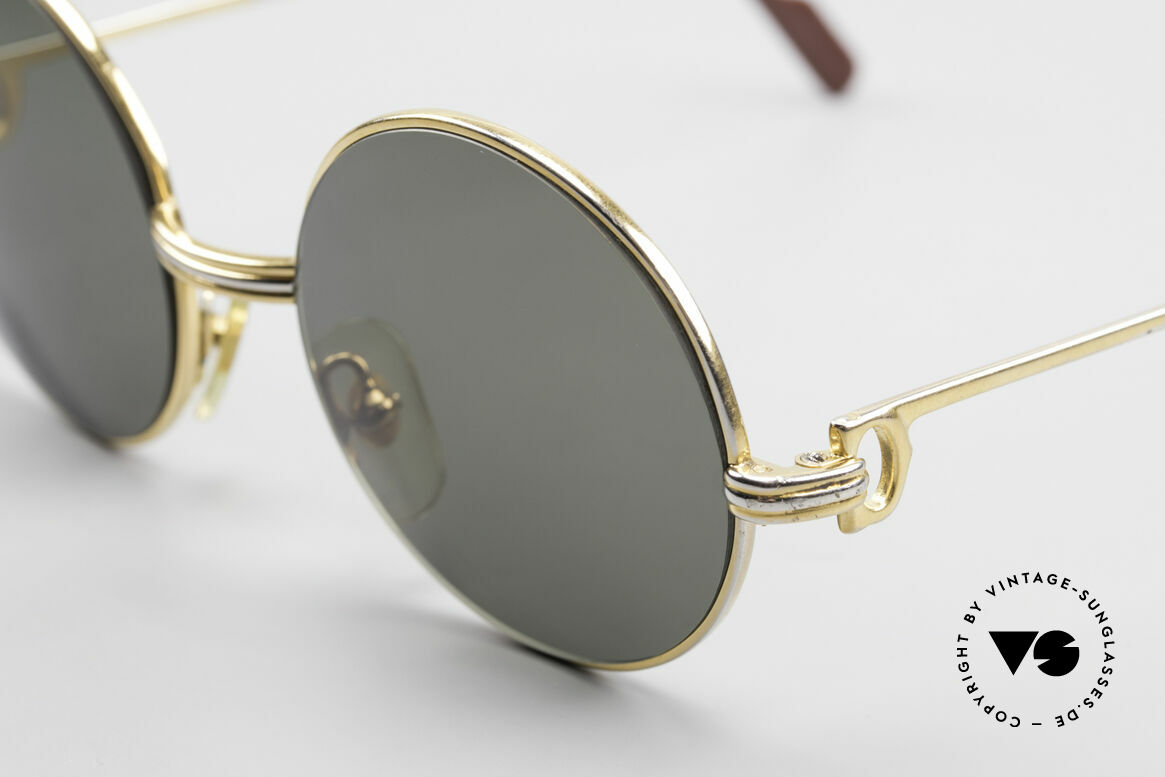 Cartier Round Customized Prototype One of a kind 2. Hand, used condition with many signs of wear, Made for Men and Women