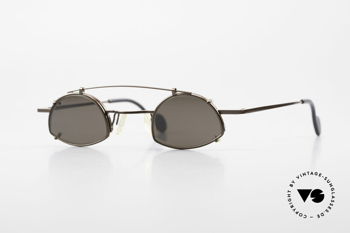 Theo Belgium Poco Small Frame With Clip On, vintage THEO Belgium eyeglass-frame with Sun-Clip, Made for Men and Women