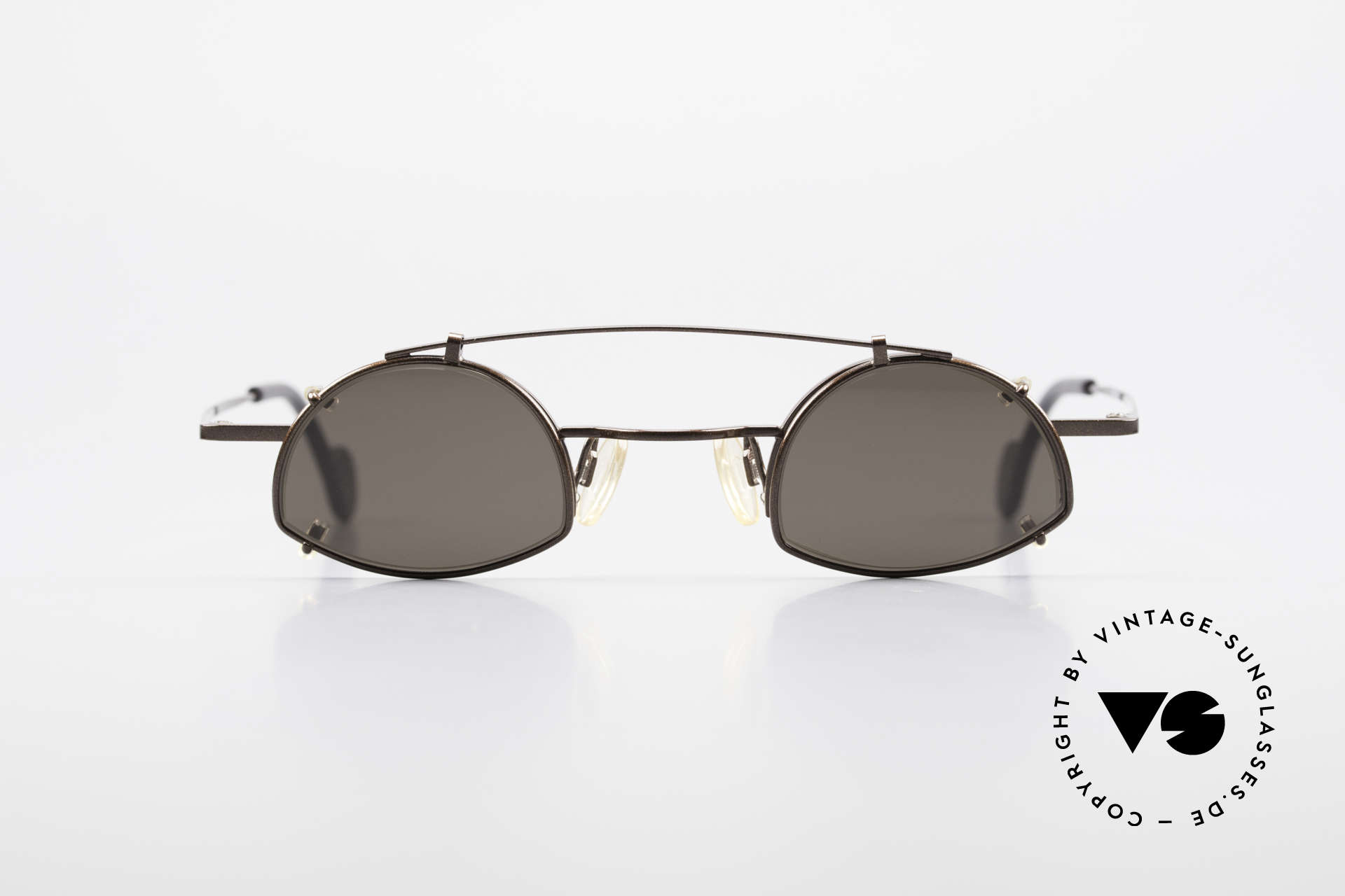 Theo Belgium Poco Small Frame With Clip On, brilliant model (semi-rimless) with clip on (rimmed), Made for Men and Women
