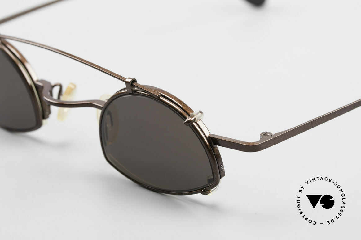 Theo Belgium Poco Small Frame With Clip On, unworn, one of a kind, Theo shades for all who dare ;), Made for Men and Women