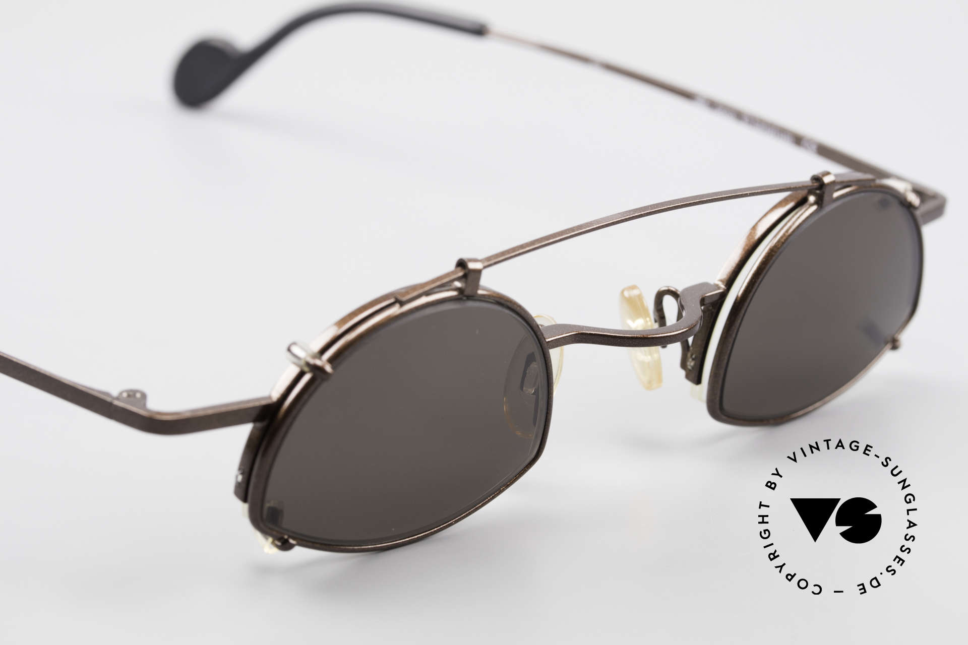 Theo Belgium Poco Small Frame With Clip On, NO RETRO SHADES; but a rare old original from 1996, Made for Men and Women