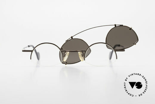 Theo Belgium Poco Small Frame With Clip On, frame could be glazed with optical lenses of any kind, Made for Men and Women