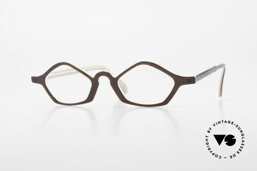 Theo Belgium Polygone Geometrical Plastic Eyeglasses Details