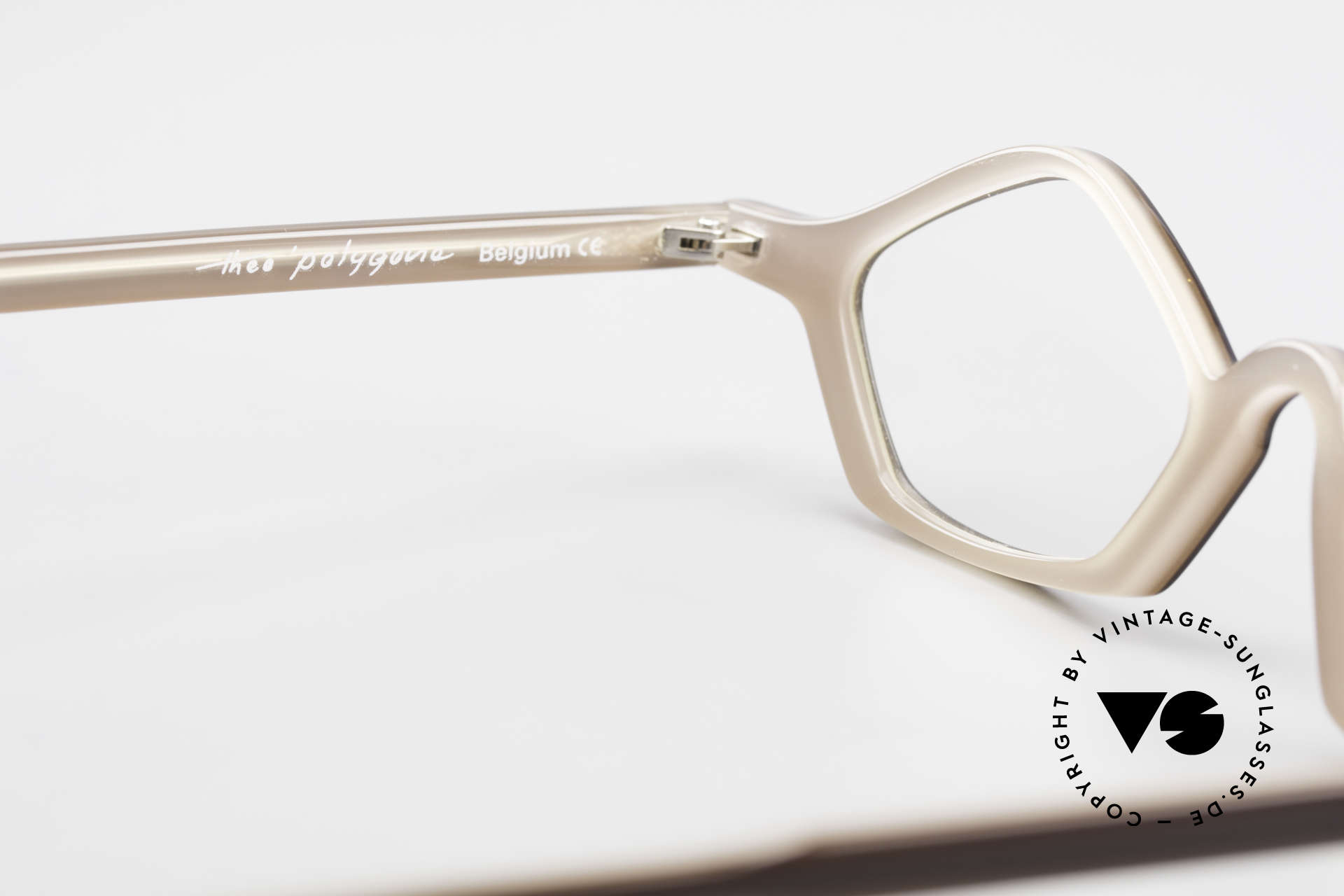 Theo Belgium Polygone Geometrical Plastic Eyeglasses, Size: small, Made for Men and Women
