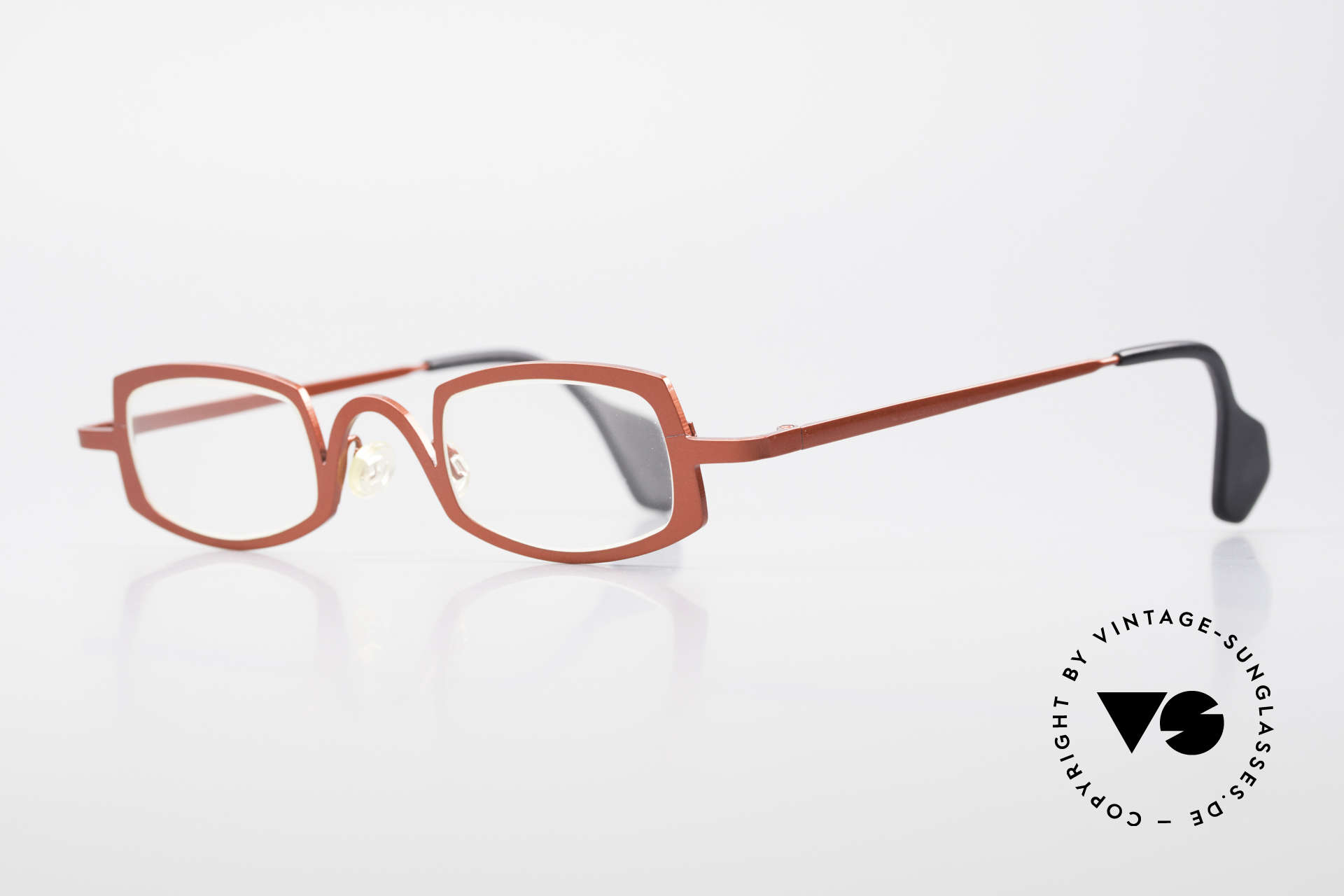Theo Belgium Rectangle Red Vintage Ladies Eyeglasses, made for the avant-garde, individualists & trend-setters, Made for Women