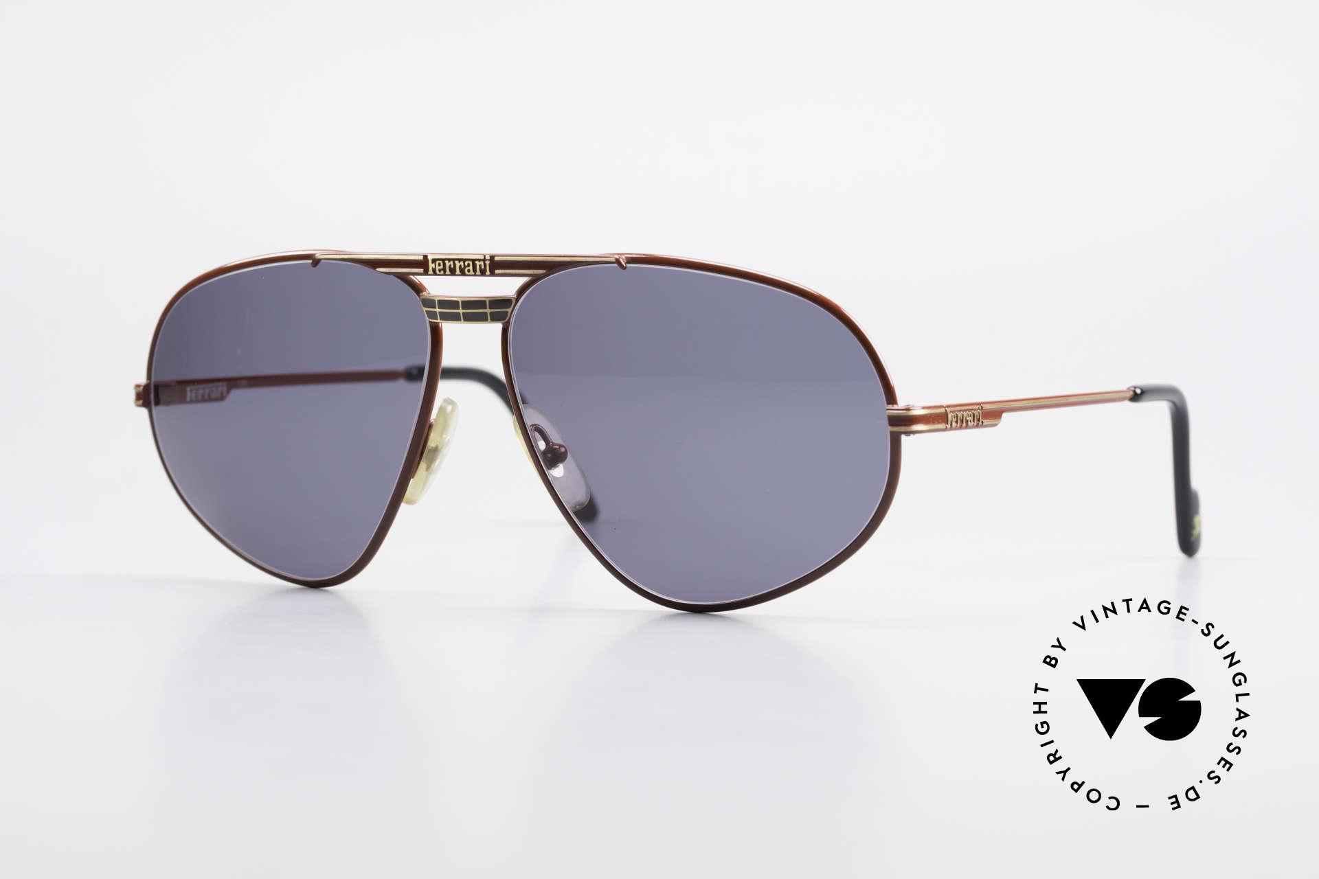 Ferrari F12 Old Vintage Luxury Sunglasses, vintage Ferrari designer sunglasses from the 1990's, Made for Men