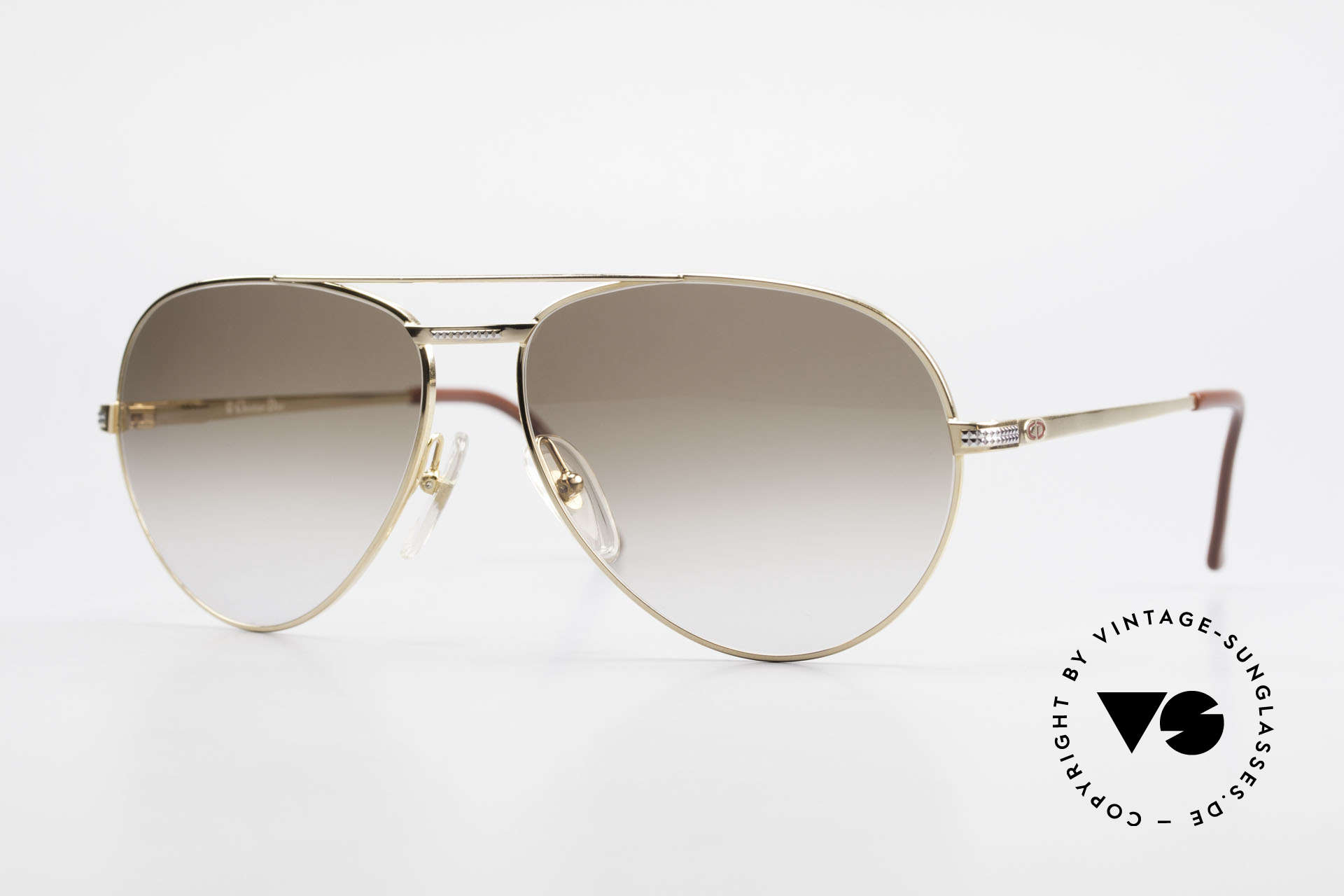 Christian Dior 2780 Gold-Plated 90's Aviator Frame, noble 90's aviator sunglasses by Christian Dior, Made for Men