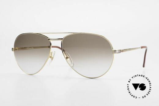 Christian Dior 2780 Gold-Plated 90's Aviator Frame Details