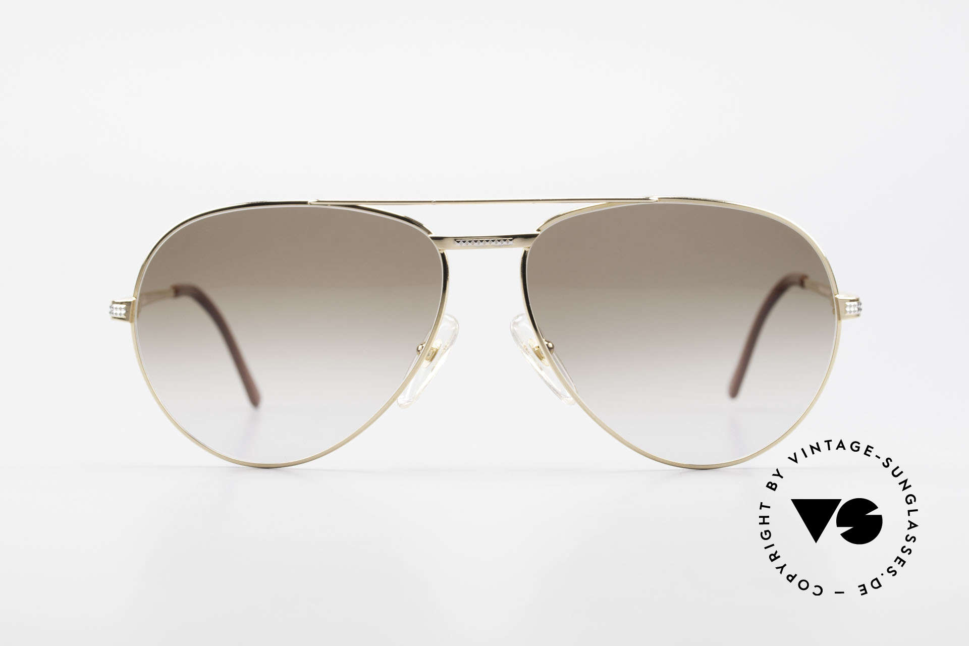 Christian Dior 2780 Gold-Plated 90's Aviator Frame, GOLD-PLATED metal frame in LARGE size 61/14, Made for Men