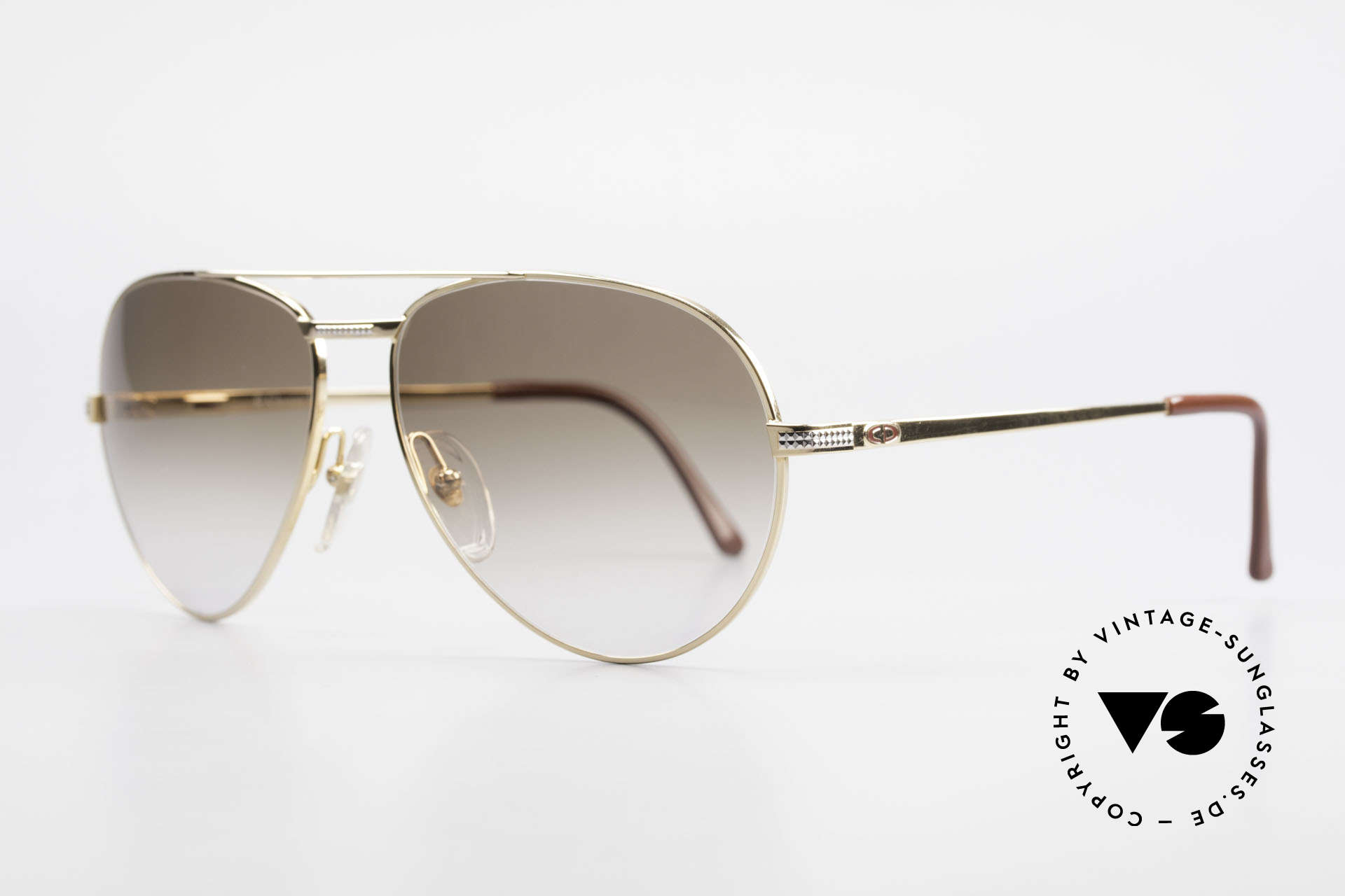 Christian Dior 2780 Gold-Plated 90's Aviator Frame, 1 class wearing comfort: flexible spring hinges, Made for Men