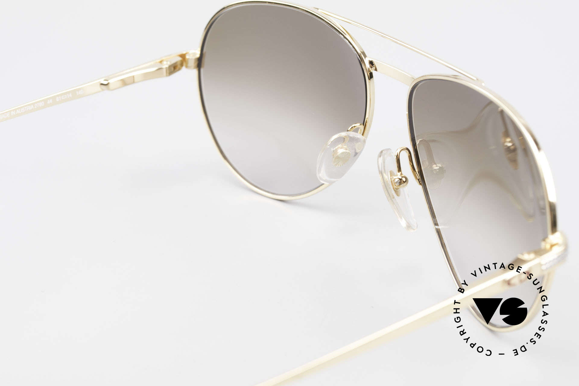 Christian Dior 2780 Gold-Plated 90's Aviator Frame, sun lenses (100% UV) can be replaced optionally, Made for Men