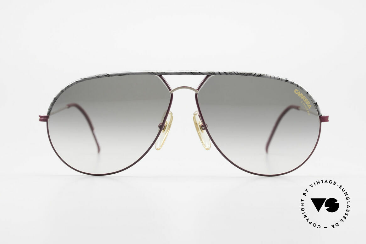 Carrera 5428 Rare Old Vintage 80's Shades, wine-red / gold frame with a gray marbled brow bar, Made for Men and Women