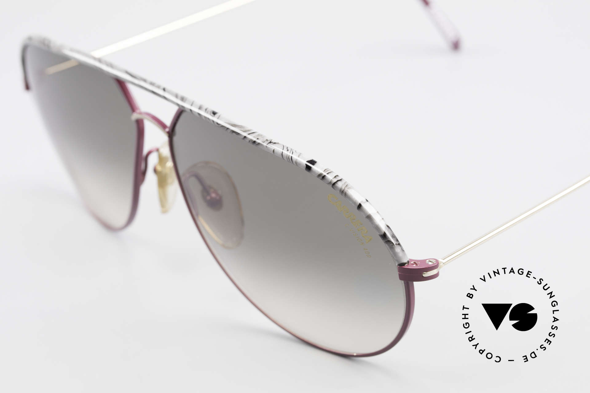 Carrera 5428 Rare Old Vintage 80's Shades, green/gray-gradient Carrera lenses (C-VISION 400), Made for Men and Women