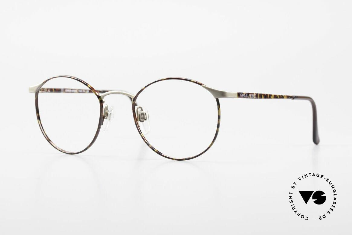 Giorgio Armani 163 Small Panto Eyeglass-Frame, timeless vintage Giorgio Armani designer eyeglasses, Made for Men and Women
