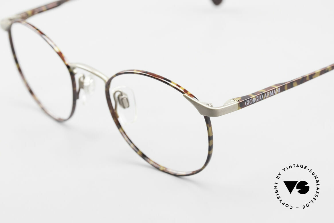 Giorgio Armani 163 Small Panto Eyeglass-Frame, can be glazed with lenses of any kind (optical / sun), Made for Men and Women
