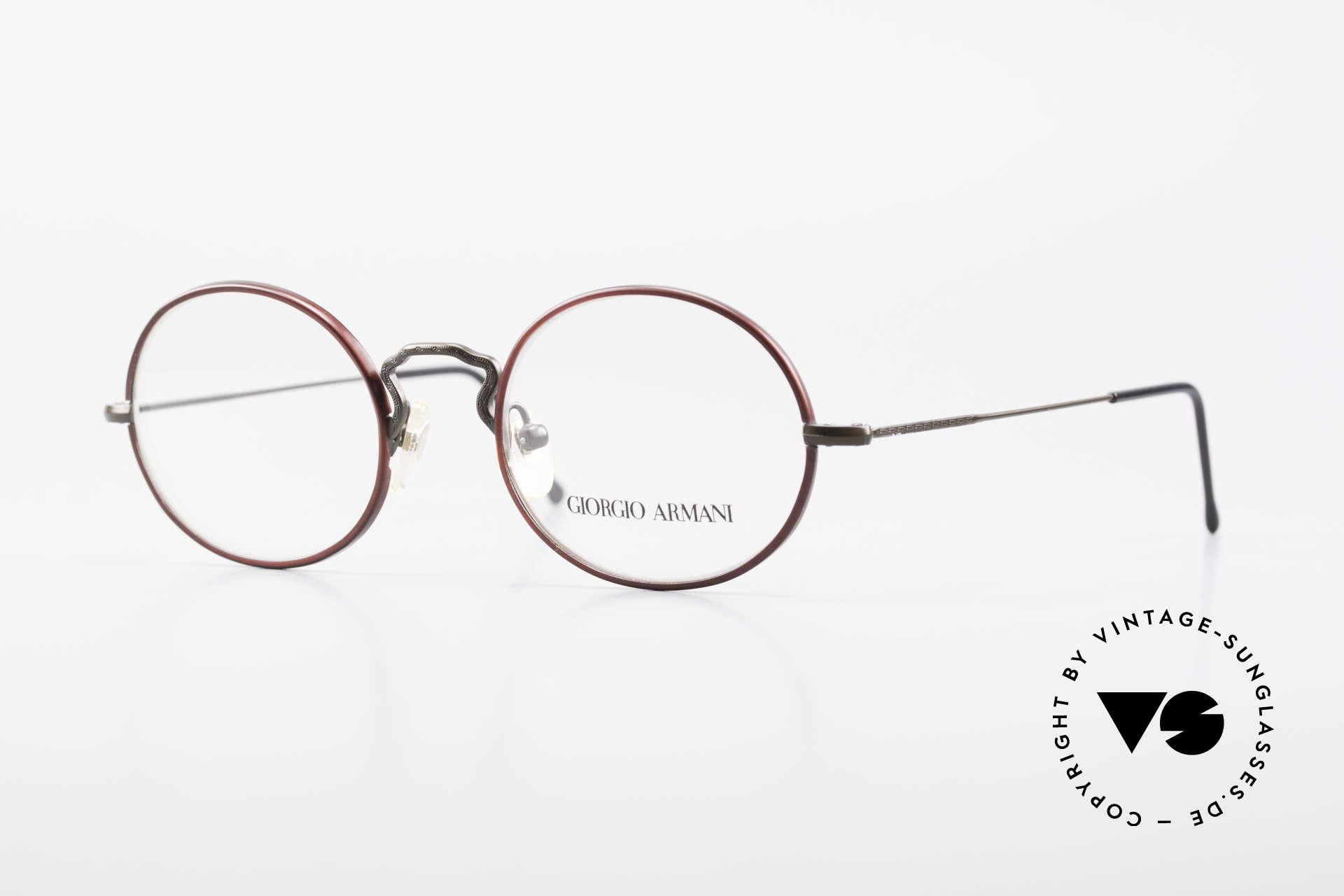 Giorgio Armani 247 Oval 90's Eyeglasses No Retro, vintage designer eyeglasses by Giorgio Armani, Italy, Made for Men and Women