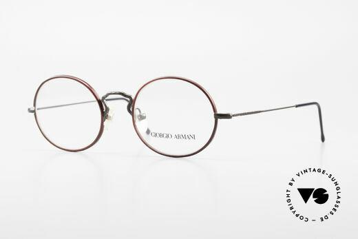 Giorgio Armani 247 Oval 90's Eyeglasses No Retro Details