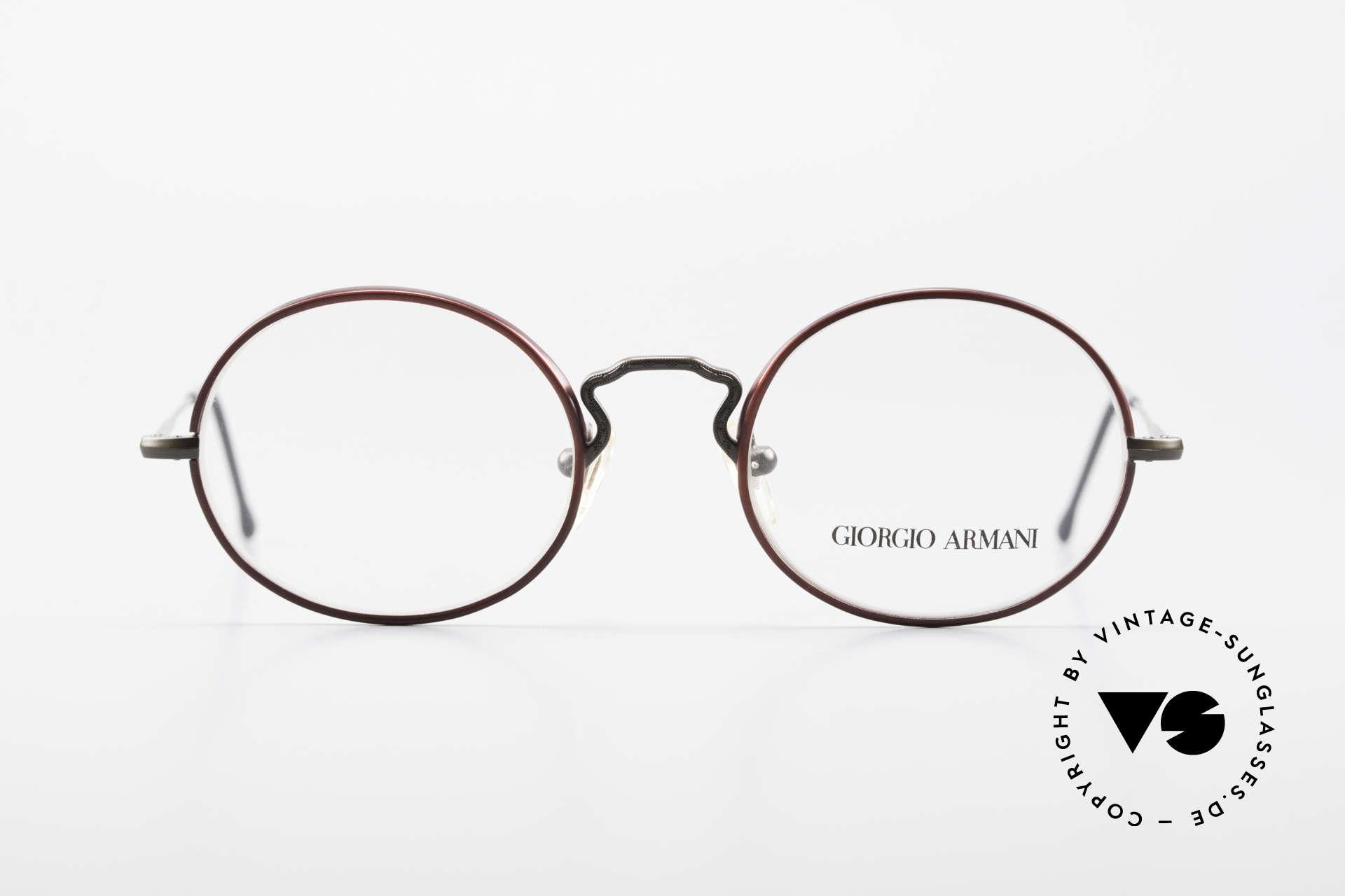 Giorgio Armani 247 Oval 90's Eyeglasses No Retro, oval frame design; M size 49/20 - a timeless classic!, Made for Men and Women