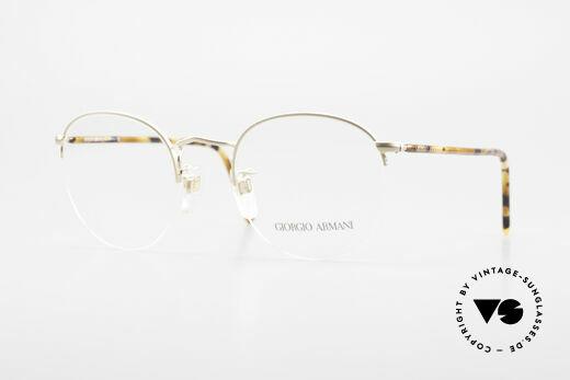 Giorgio Armani 142 Rimless Panto Eyeglasses 80's Details