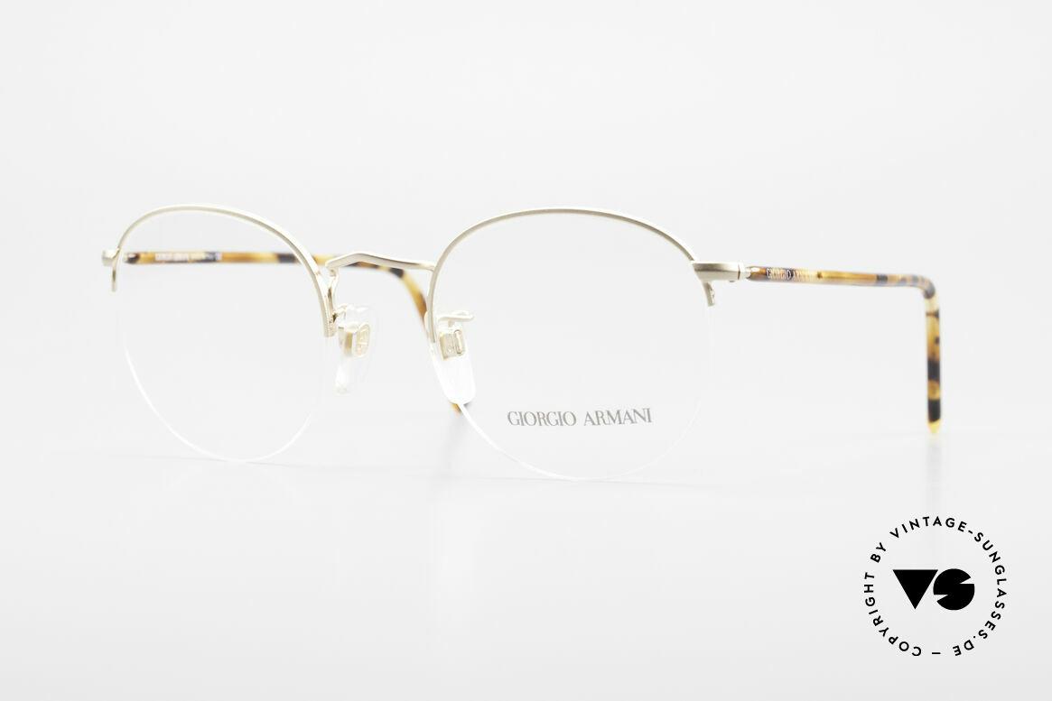 Giorgio Armani 142 Rimless Panto Eyeglasses 80's
