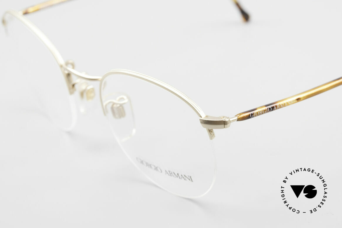 Giorgio Armani 142 Rimless Panto Eyeglasses 80's, unworn, NOS, one of a kind and timeless 80's quality, Made for Men and Women
