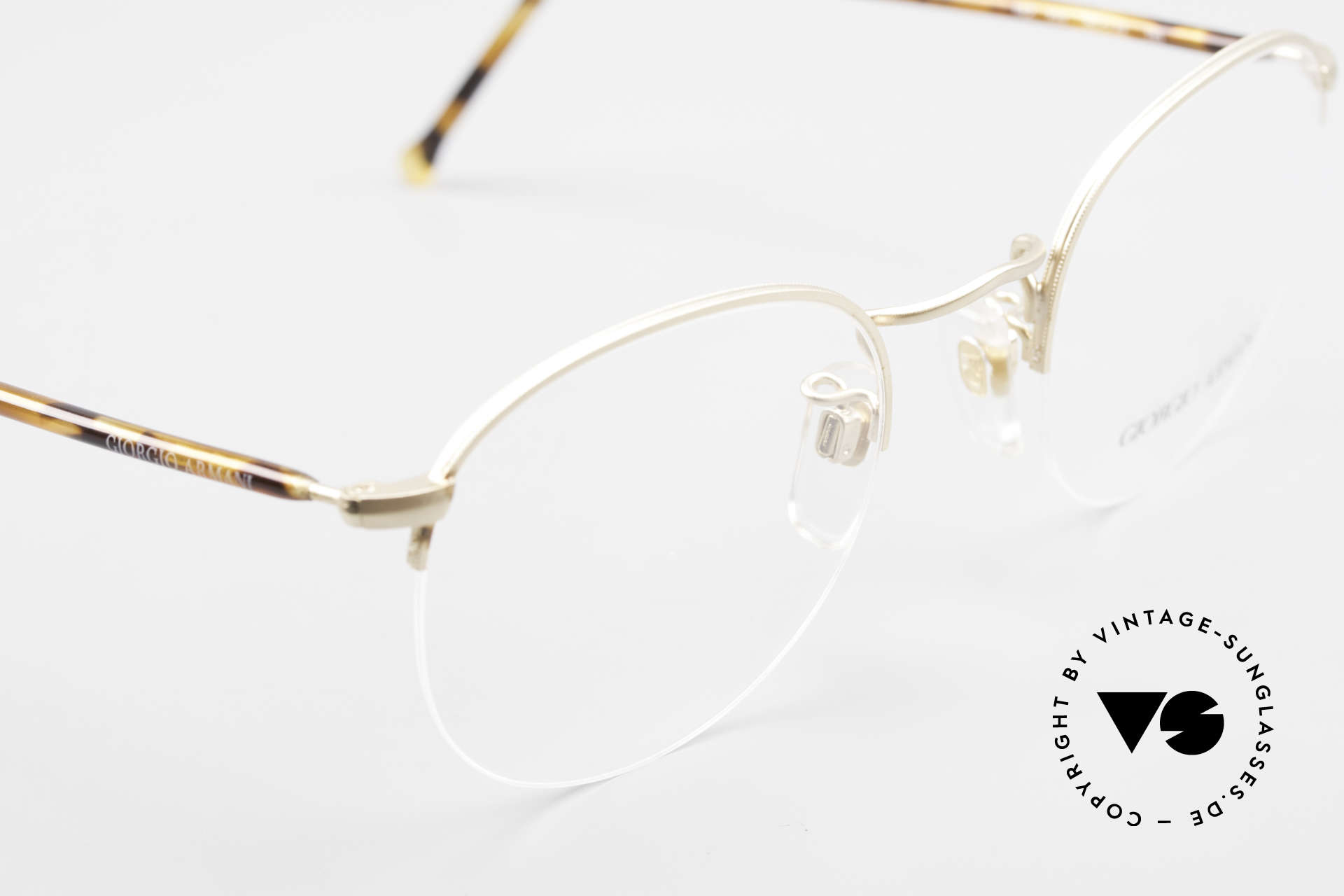Giorgio Armani 142 Rimless Panto Eyeglasses 80's, NO RETRO EYEGLASSES, but a 30 years old Original, Made for Men and Women