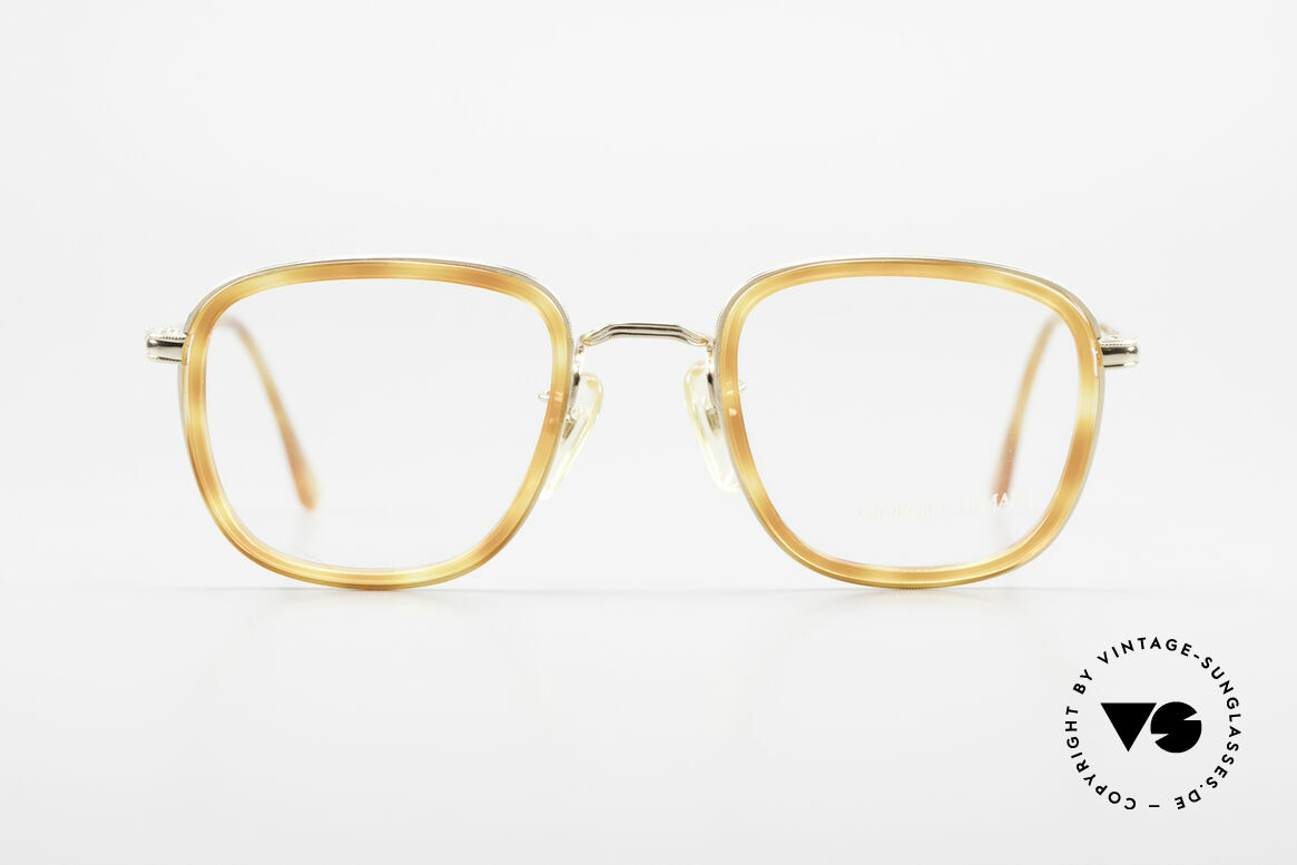 Giorgio Armani 102 Square Vintage Eyeglasses 90's, true classic in design & coloring; medium size 48-22, Made for Men and Women