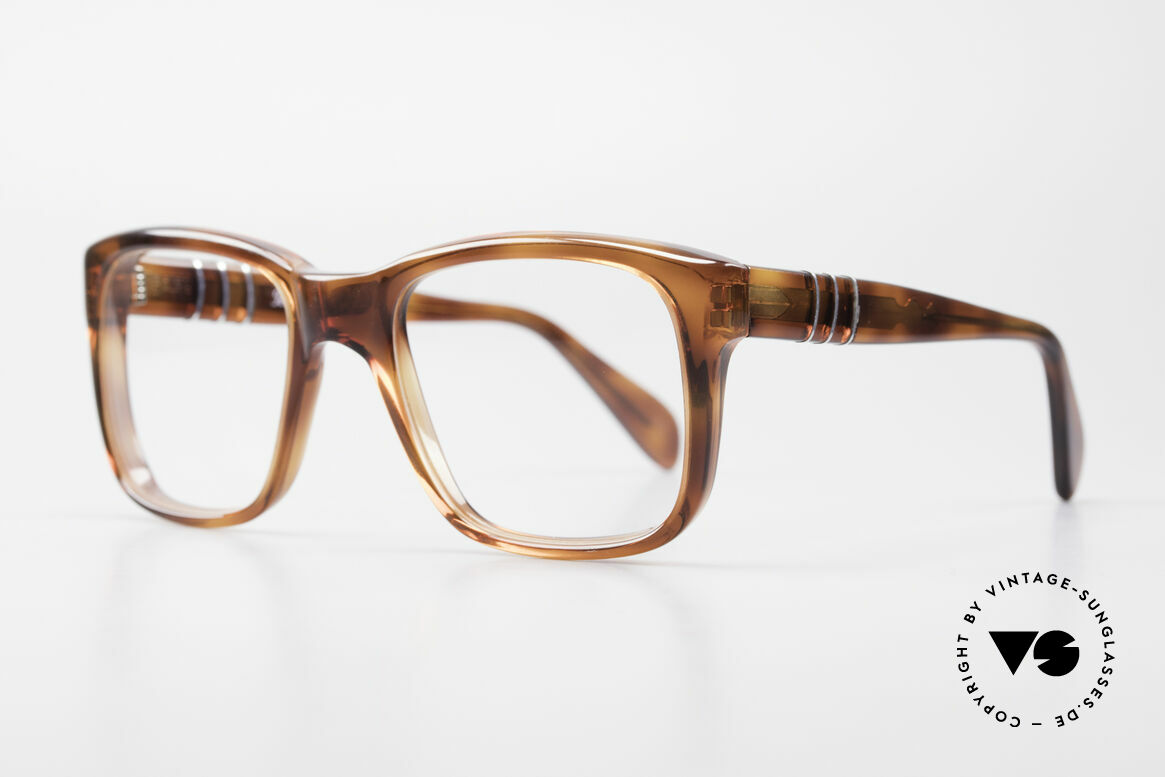 Persol 58150 Ratti Old School Vintage Eyeglasses, handmade in 1987, in the Ratti manufactory in Torino, Made for Men