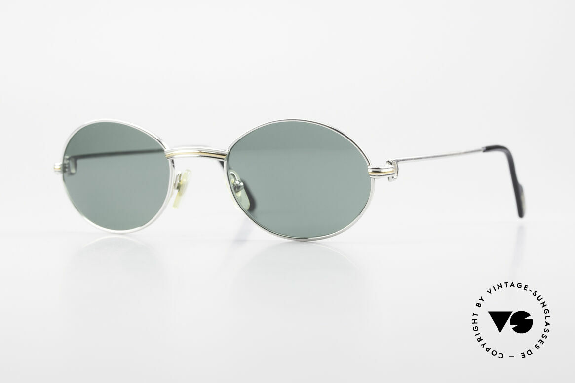 Cartier Saint Honore Oval Luxury Sunglasses 90's, oval VINTAGE CARTIER sunglasses from app. 1998, Made for Men