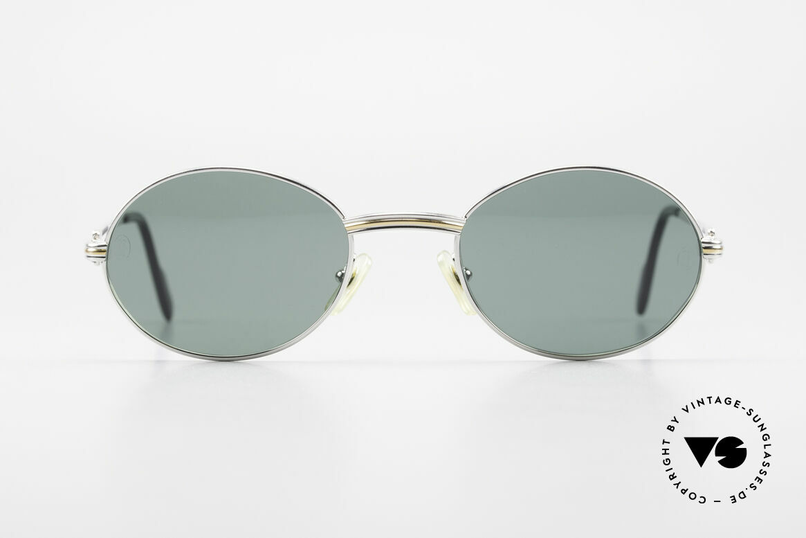 Cartier Saint Honore Oval Luxury Sunglasses 90's, precious and timeless design, in LARGE size 53°22, Made for Men