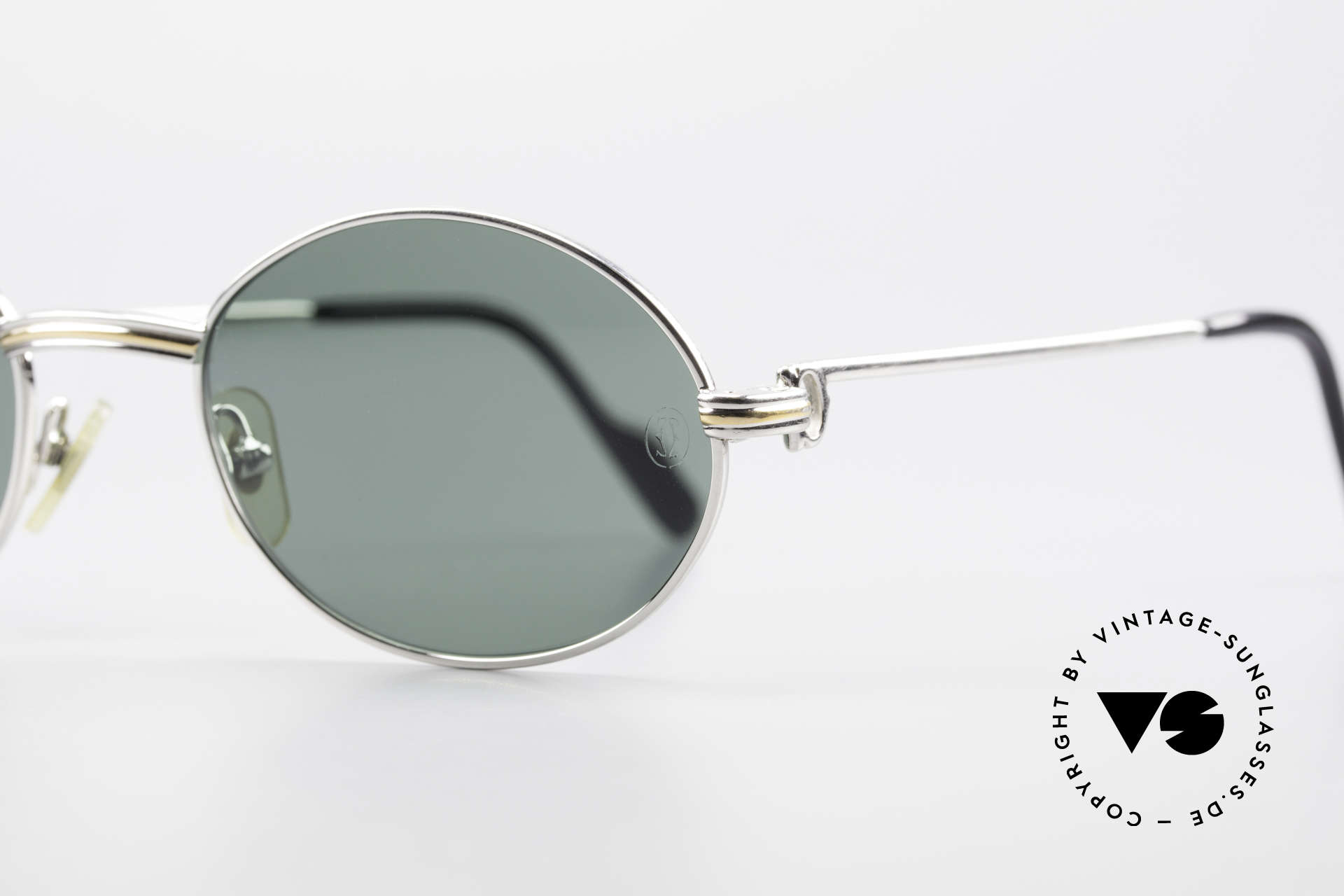 Cartier Saint Honore Oval Luxury Sunglasses 90's, sun lenses with CARTIER-logo (100% UV protection), Made for Men
