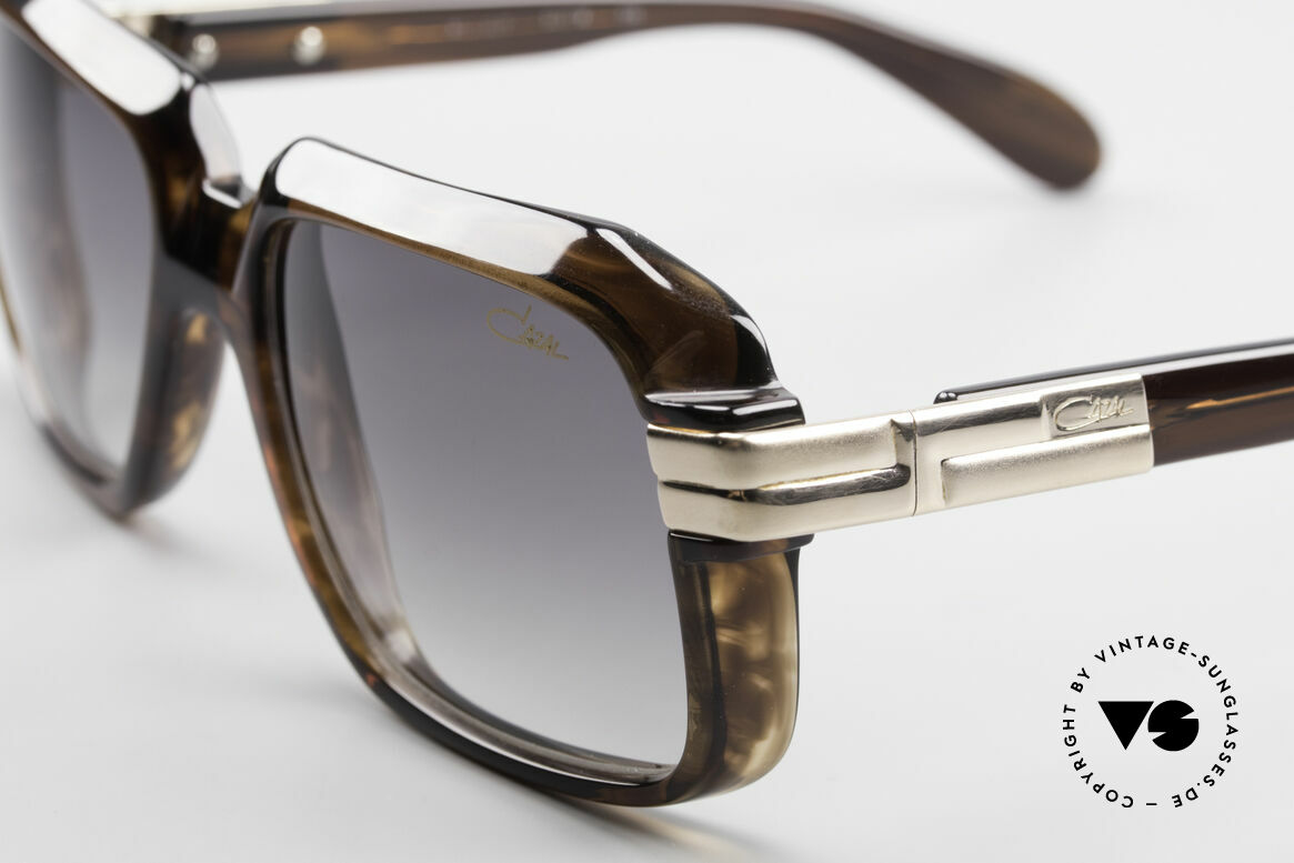 Cazal 607 1st Series From The Late 70's, this pair comes with new gradient sun lenses by Cazal, Made for Men