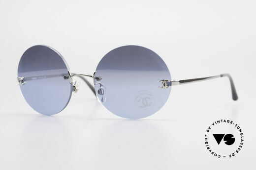 Chanel 4056 Round Luxury Shades Rimless Details