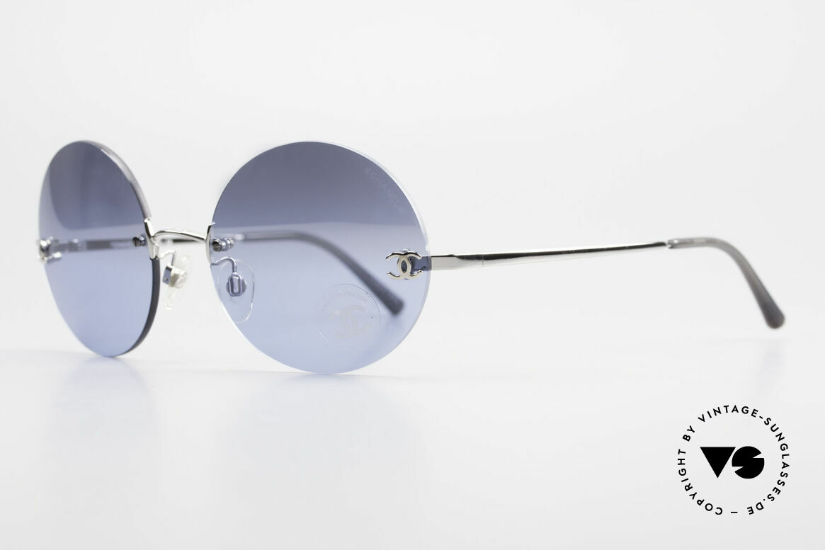 Chanel 4056 Round Luxury Shades Rimless, great combination of 'luxury lifestyle' & functionality, Made for Men and Women