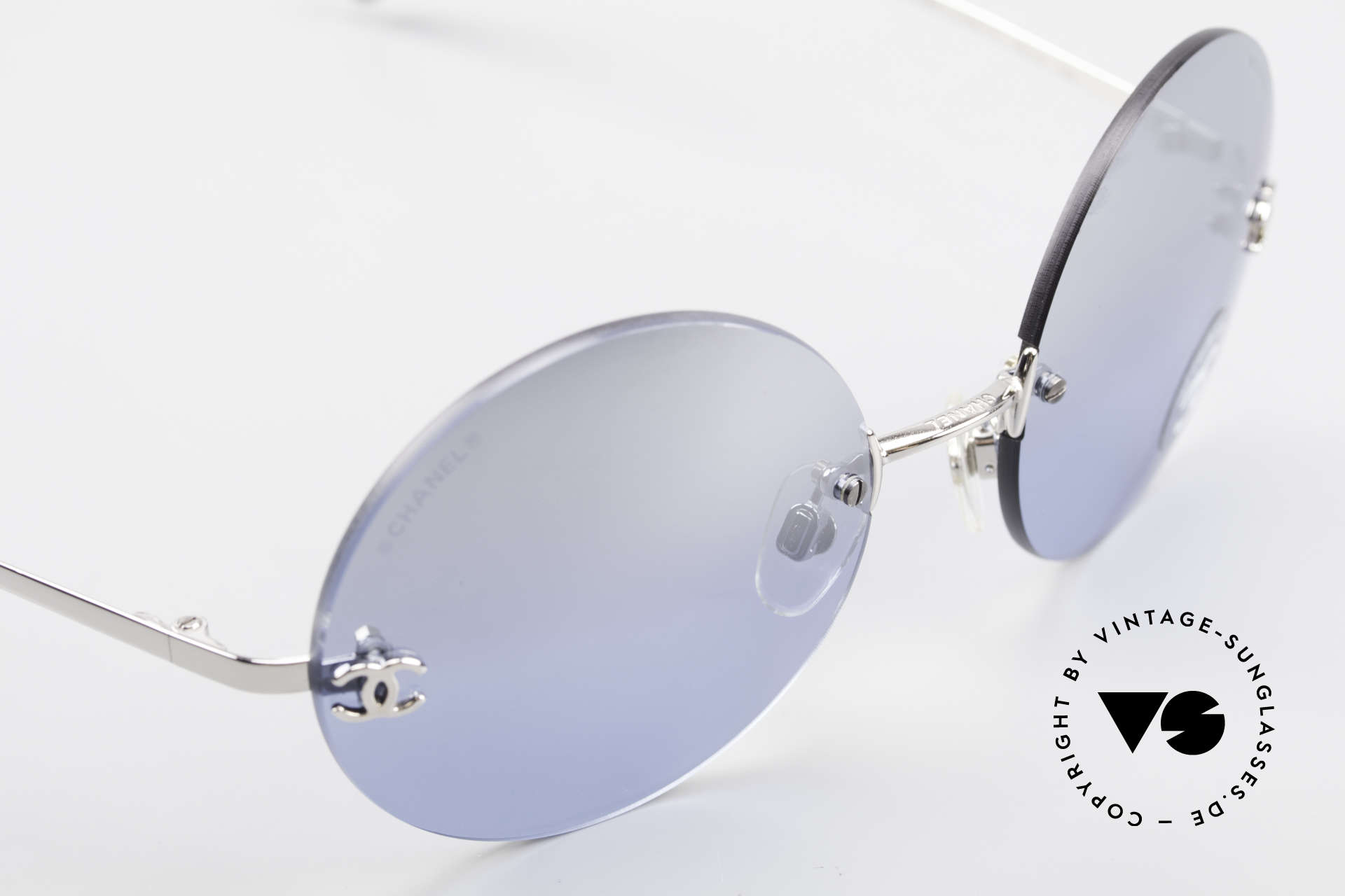 Chanel 4056 Round Luxury Shades Rimless, unworn designer shades (incl. original case by Chanel), Made for Men and Women