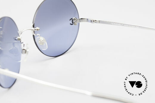 Chanel 4056 Round Luxury Shades Rimless, NO RETRO fashion; an old vintage ORIGINAL from 1999, Made for Men and Women