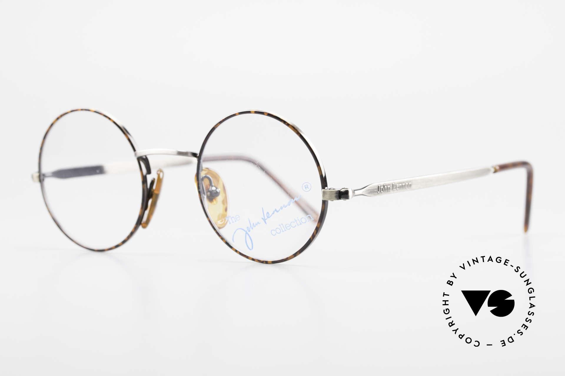 John Lennon - Revolution Small Round Vintage Glasses, SMALL round eyeglasses (with interesting finish), Made for Men and Women
