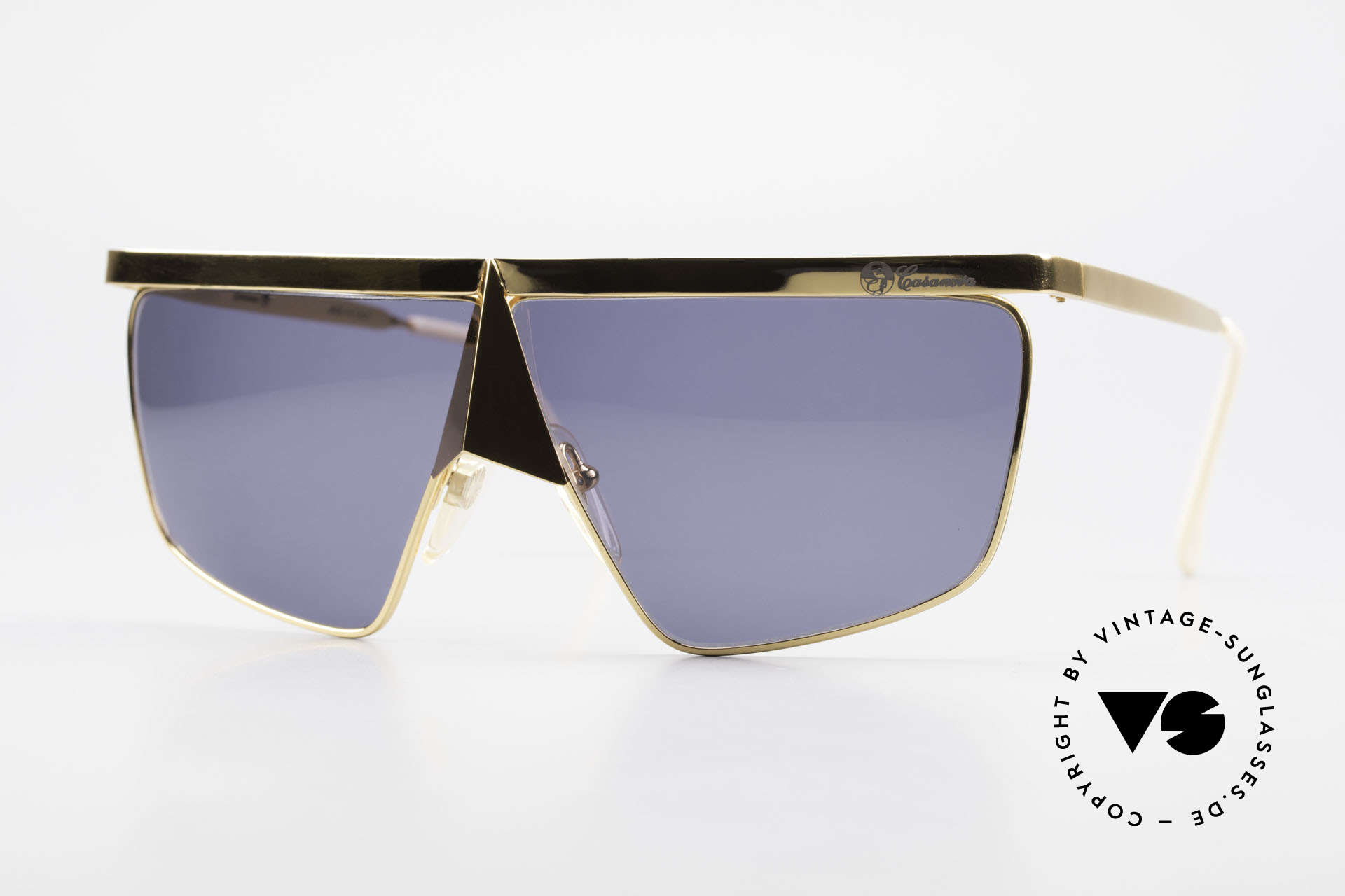 Casanova FC10 Noseguard Sunglasses 24kt, interesting Casanova 'nose sunglasses' from app. 1985, Made for Men and Women